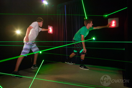 Playing laser maze as a team