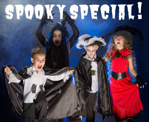 Spooky Special - Kids in scary costumes