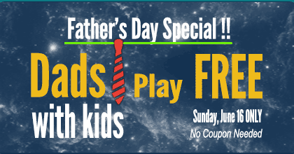 Dads with kids play FREE, June 16 only