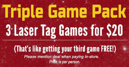 3 Laser Tag Games $20