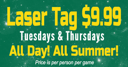 Laser Tag $9.99/person/game on Thusdays and Thursdays
